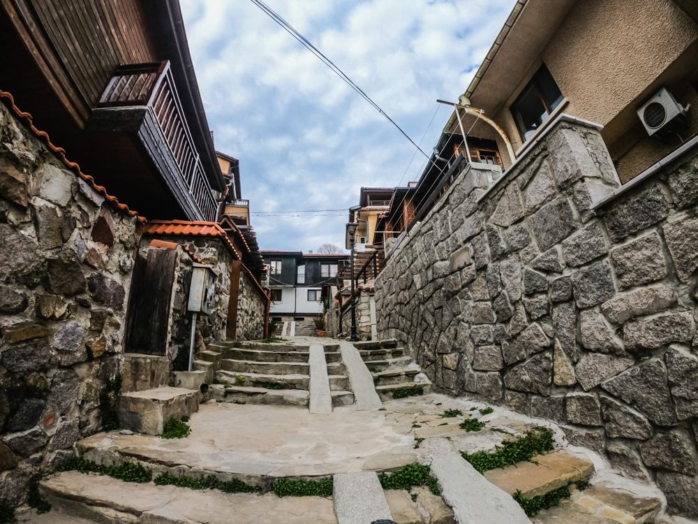 Старият град Созопол през Март 1